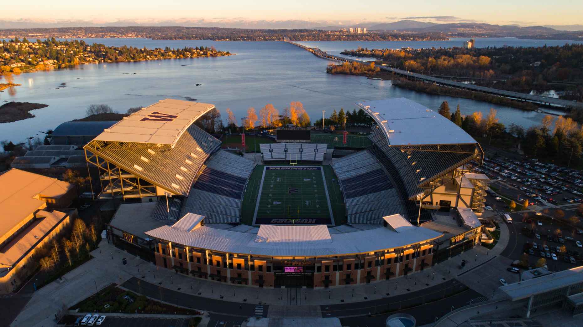 Husky Stadium at The University of Washington from Above